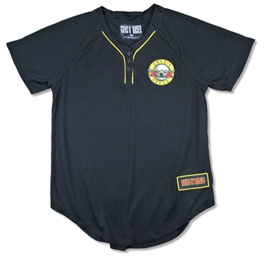 Guns N Roses - Patch Logo - Henley Shirt