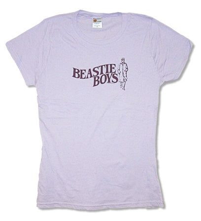 Beastie Boys - Trenchcoat Logo - Girls Junior Light Purple t-shirt