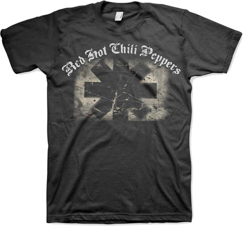 Red Hot Chili Peppers - Distressed Asterisk - Black t-shirt