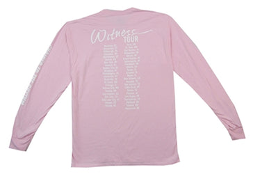 Katy Perry - Chained-Witness Tour - Longsleeve Pink T-shirt
