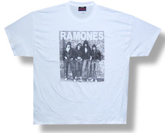 Ramones Group Wall Photo White Lightweight T-shirt