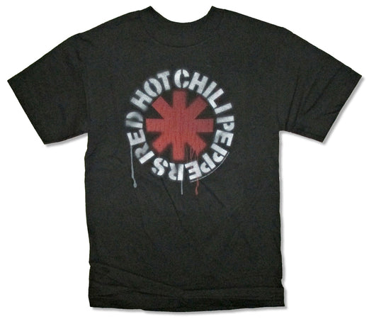 Red Hot Chili Peppers - Dripping Stencil - Black t-shirt
