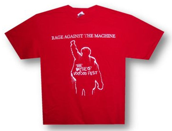 Rage Against The Machine Red Battle Of Voodoo t-shirt