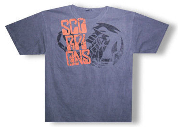 Scorpions Shoulder Stacker Charcoal Gray t-shirt