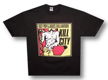 Iggy Pop Kill City Black  t-shirt