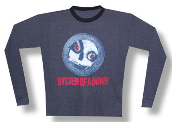 System of a Down Skull Thermal Longsleeve t-shirt