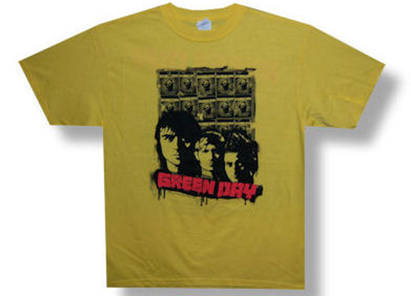 Green Day - Poster Pic 09 Tour - Yellow  T-shirt