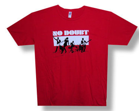 No Doubt Silhouettes 09 tour - Red T-shirt