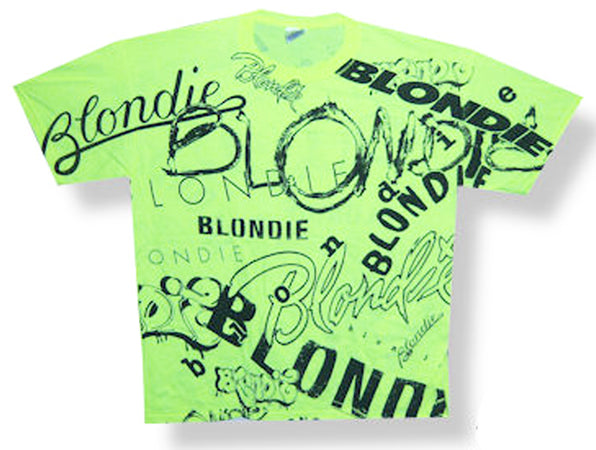 Blondie - Logos All Over Print T-shirt