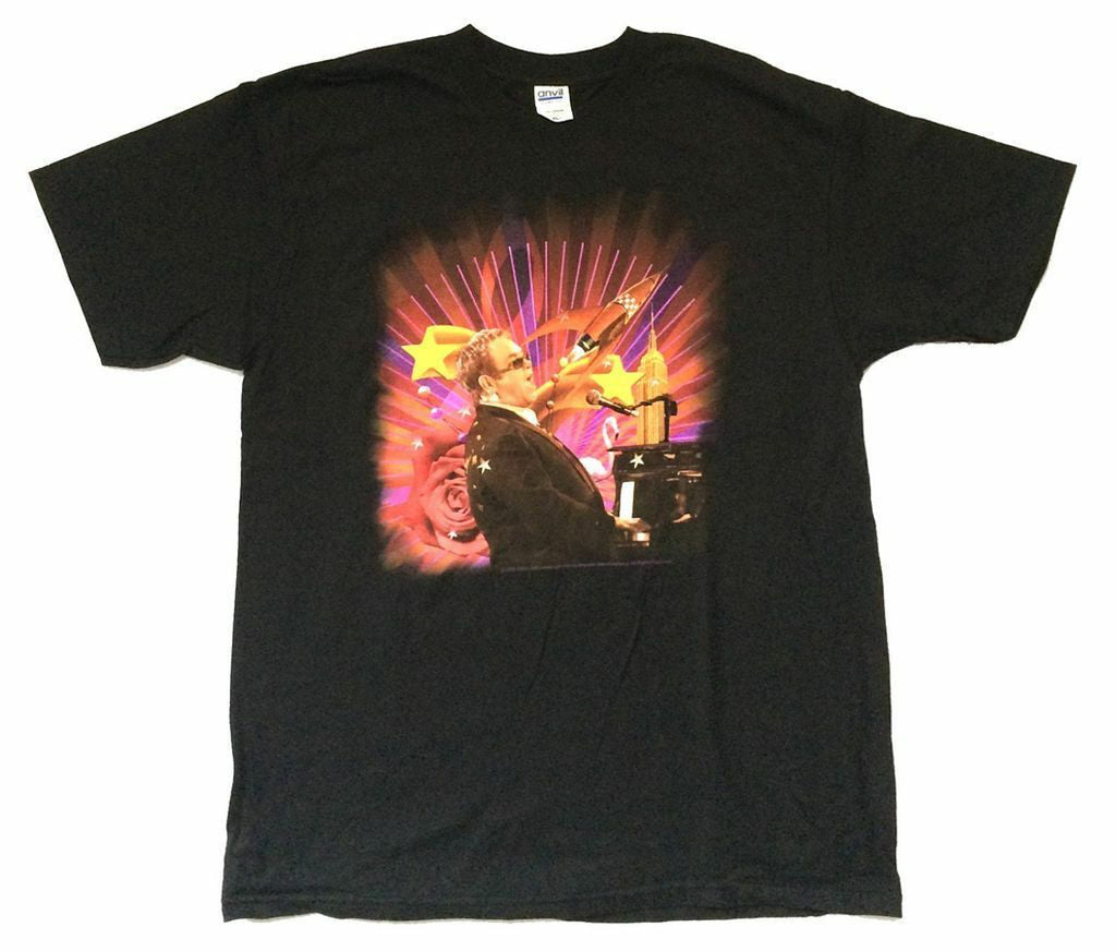 Elton John - Elton-Rocket Man Tour 2008 - Black t-shirt