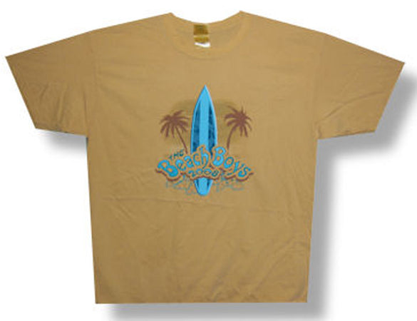 The Beach Boys-Surfboard and Palm Tree-Yellow t-shirt