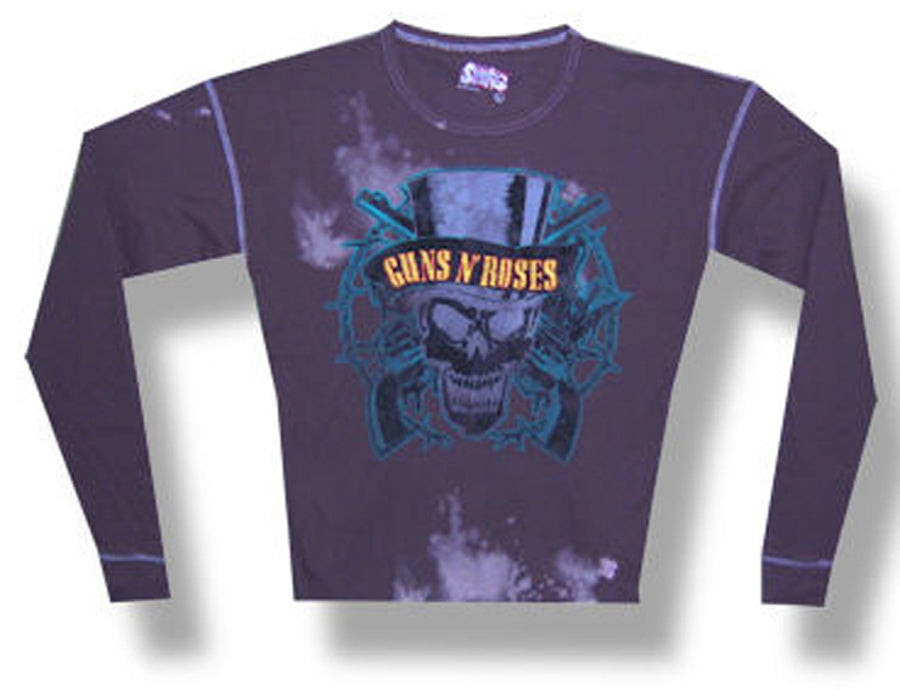 Guns N Roses -  Top Hat Skull - SWAG Fashion Thermal Longsleeve t-shirt