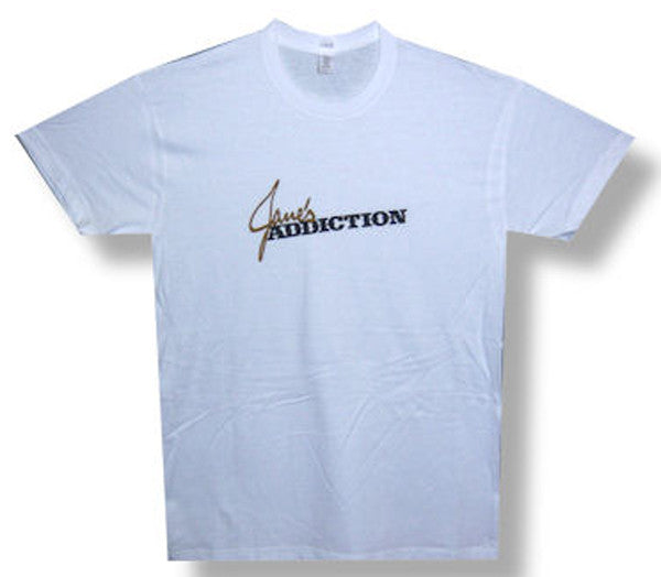 Janes Addiction Classic Logo on white  t-shirt