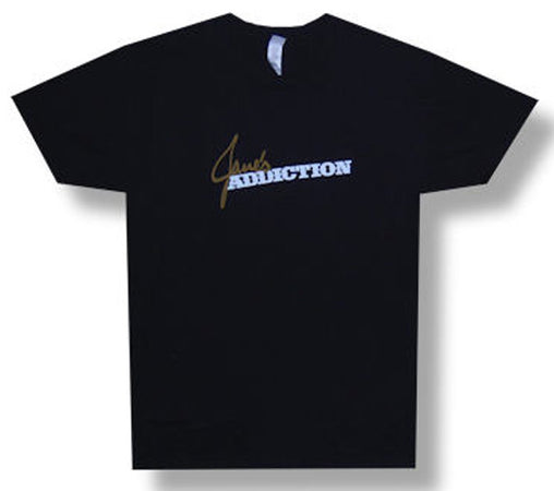 Janes Addiction Classic Logo on black  t-shirt
