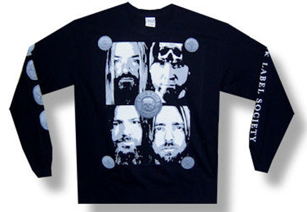 Black Label Society Faces Longsleeve  t-shirt