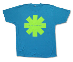 Red Hot Chili Peppers - Lime Green Asterisk - Blue  t-shirt