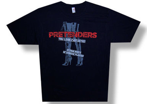 The Pretenders Fantastic men's  Black lightweight t-shirt