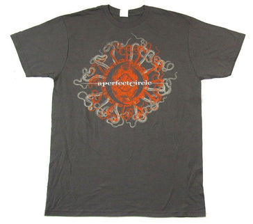 A Perfect Circle-Orange Octopus-2011 Tour-Grey t-shirt