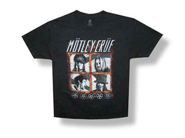 Motley Crue - Band-Squares-2012 Tour - Black t-shirt