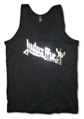 Judas Priest - Foil Logo - Girl's Junior Black Tanktop T-shirt