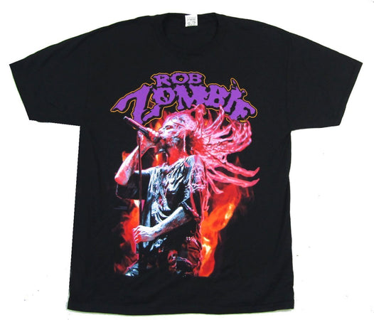 Rob Zombie - Swinging Concert Photo - Black T-shirt