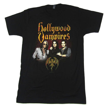 Alice Cooper - Johnny Depp-Joe Perry-Hollywood Vampires-Tour- Black T-shirt