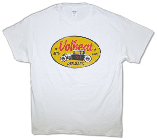 Volbeat - Yellow Oval Logo - White t-shirt