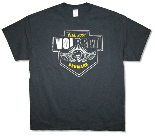 Volbeat - Cross Crest-Skull Wings - Black t-shirt