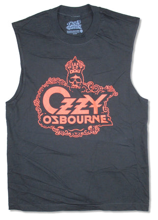 Ozzy Osbourne - Crown Skull - Sleeveless Black T-shirt