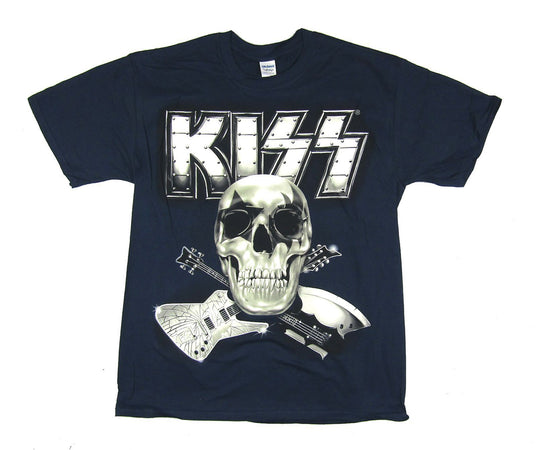 Kiss - Monster Skull 2013 Tour- Navy Blue t-shirt