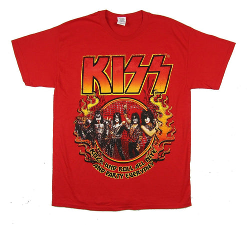 Kiss - Rock and Roll All Night - Red t-shirt