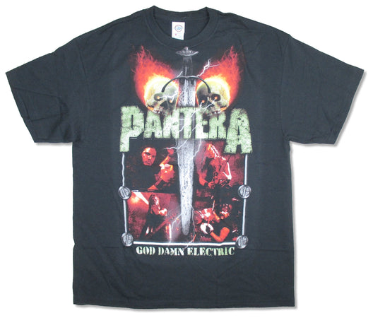 Pantera - Lightning Skulls  Black t-shirt