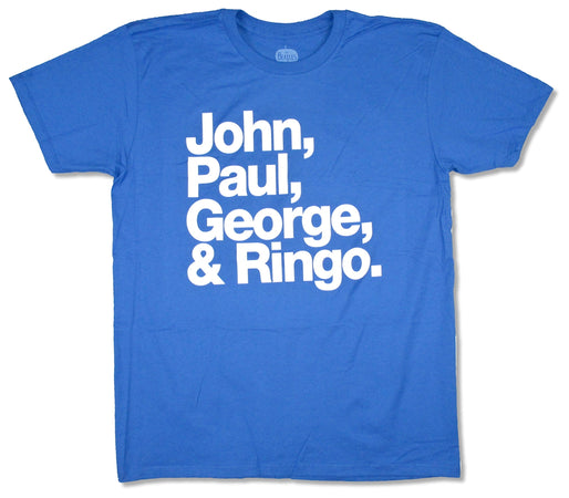 The Beatles - Names - Blue t-shirt
