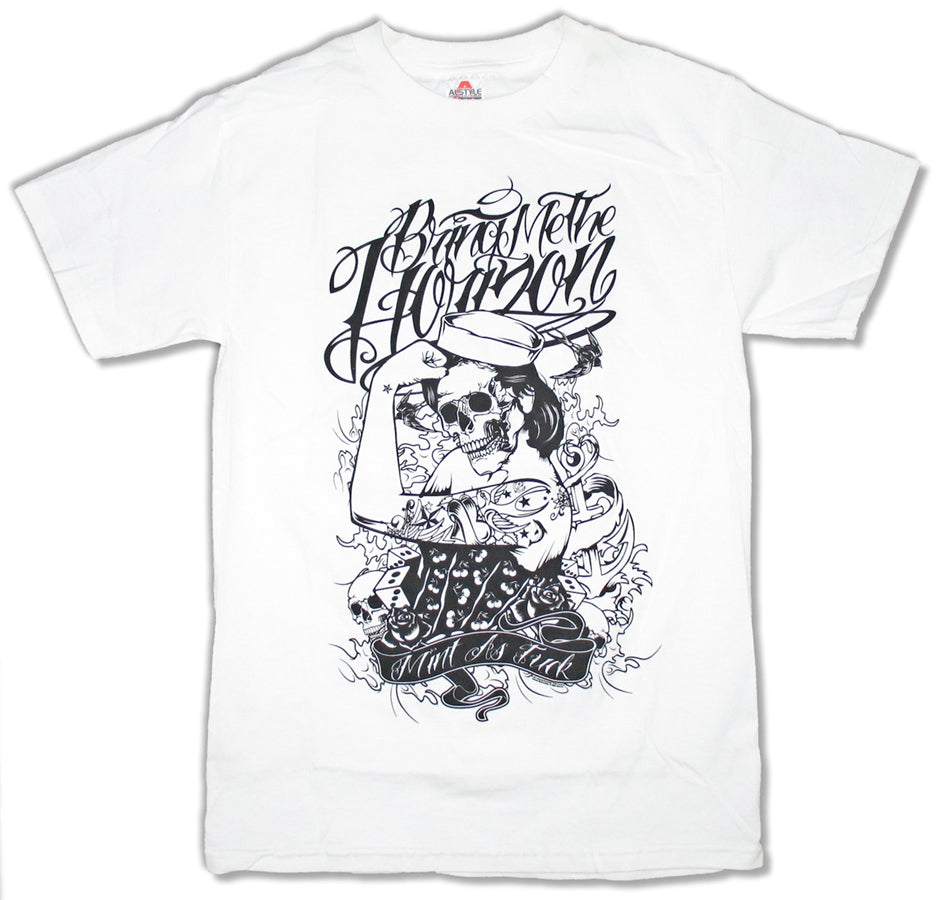 Bring Me The Horizon  - Sailors Beware - White t-shirt