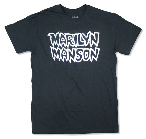 Marilyn Manson - White Logo - Black t-shirt
