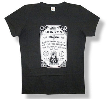 Bring Me The Horizon - Ouija Board - Girl's Junior Black t-shirt