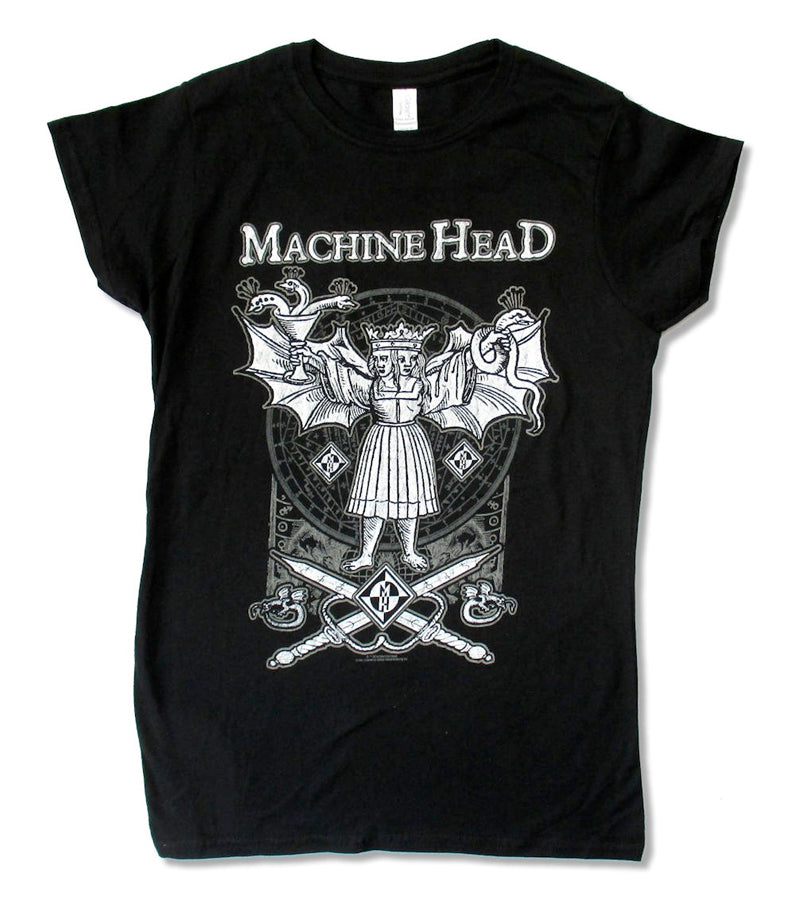 Machine Head - Evil Twins - Girl's Junior Black t-shirt