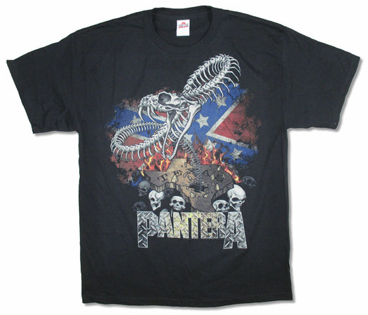 Pantera - Texas Flag-Kicking Up Dust - Black t-shirt