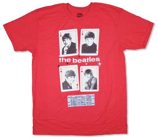The Beatles- Vegas Cards - Red t-shirt