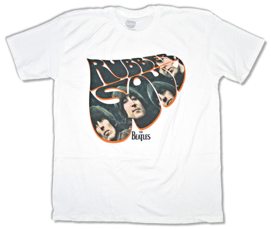 The Beatles- Rubber Soul Faces - White t-shirt