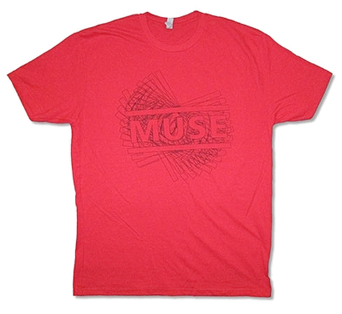 Muse - Linear-Drone 2015/2016 Tour - Red  t-shirt
