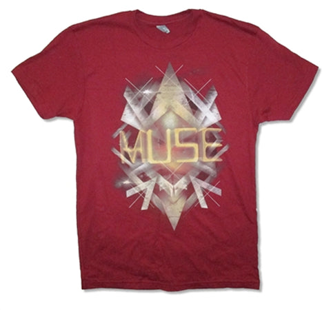 Muse - Crystals 2013 Tour - Burgundy t-shirt