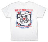 Red Hot Chili Peppers - Blood Sugar 1991 Tour - White  t-shirt