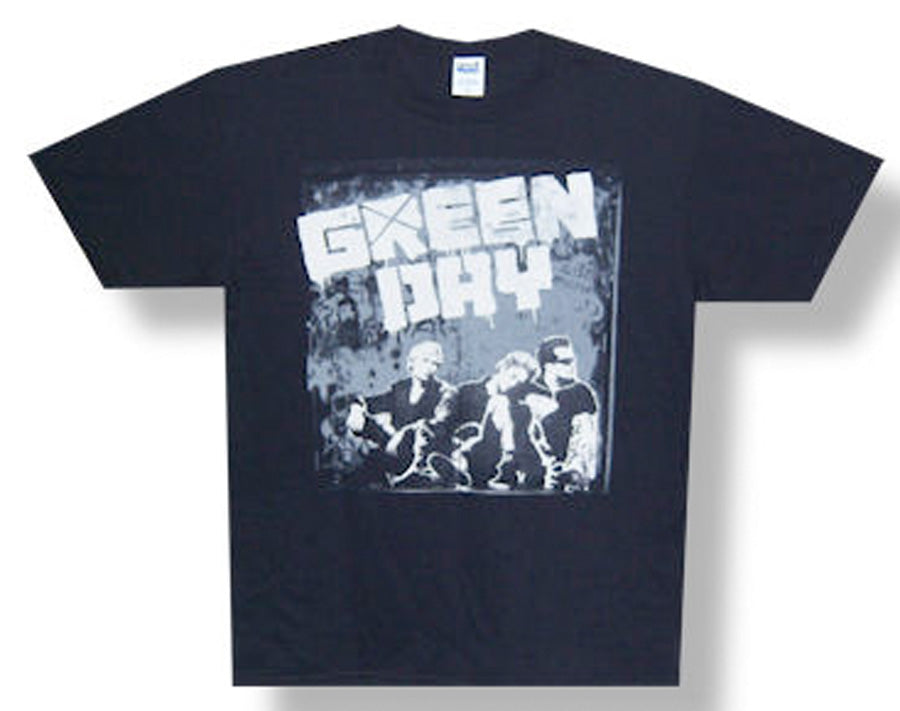 Green Day - Grey Wall 2010 Tour - Black t-shirt