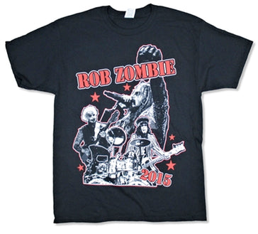 Rob Zombie - Live Stars 2015 Tour - Black T-shirt