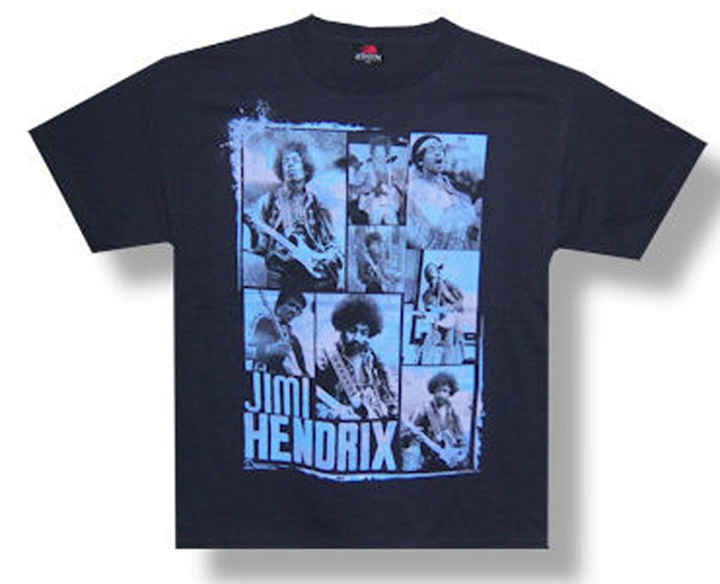 Jimi Hendrix - 8 Photos - Black  t-shirt