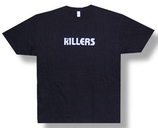 The Killers White Logo Black T-shirt