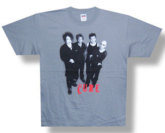 The Cure-Group on grey t-shirt