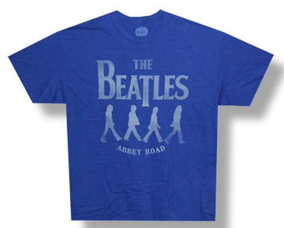 The Beatles Medley-Abbey Road silhouettes Blue t-shirt