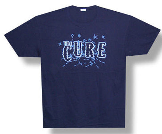 The Cure-Shocking Logo on navy t-shirt